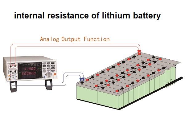 리튬 배터리의 내부 저항