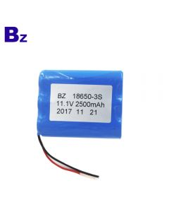 China Best 18650 Batteries Supplier Customized Cylindrical Battery BZ 18650 3S 2500mAh 11.1V Rechargeable Li-ion Battery