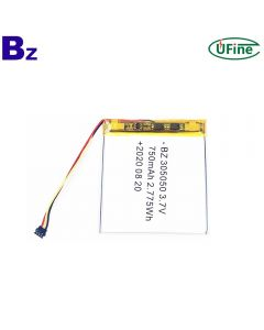 High Quality Rechargeable Lipo Battery for 3C Digital Electronics Products BZ 305050 3.7V 750mAh Lithium-ion Polymer Battery