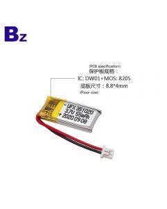 China Hot Sale Bluetooth Device Lipo Battery UFX 351020 55mAh 3.7V Li-Polymer Battery