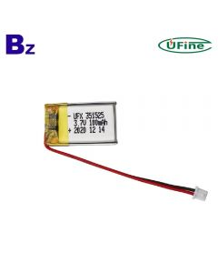 Chinese Battery Manufacturer Supplies Best Quality Smart Wristband Lipo Battery UFX 351525 100mAh 3.7V Li-Polymer Battery