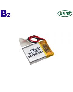 Hot Sale Heart Rate Monitor Rechargeable Lipo Battery UFX 401822 3.7V 100mAh Lithium-ion Polymer Battery