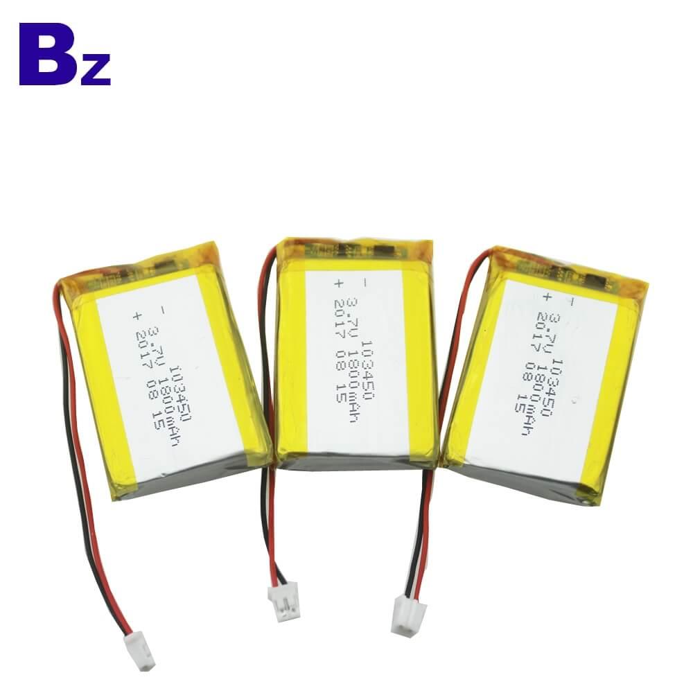 1800mAh 3.7V KC Certification Lipo Battery