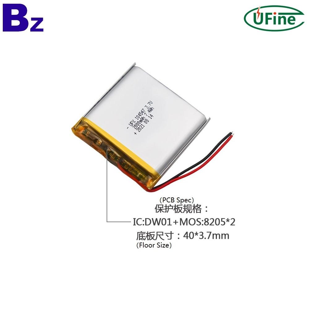 104547 3.7V 2000mAh Li-ion Batteries
