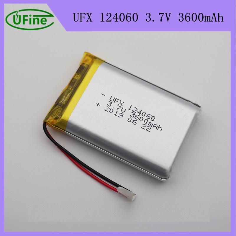 124060 3600mah 3.7V Lipo Battery Pack