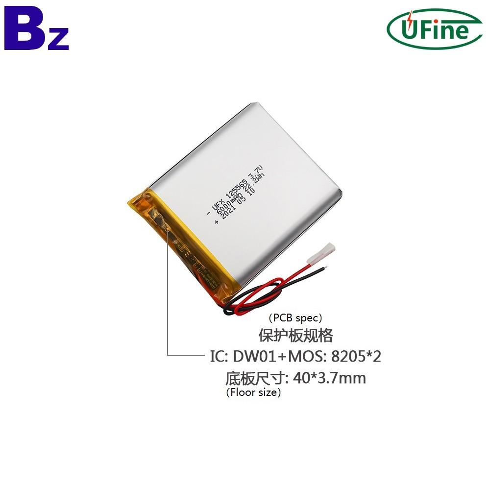 High Quality 6000mAh 3.7V Lipo Battery