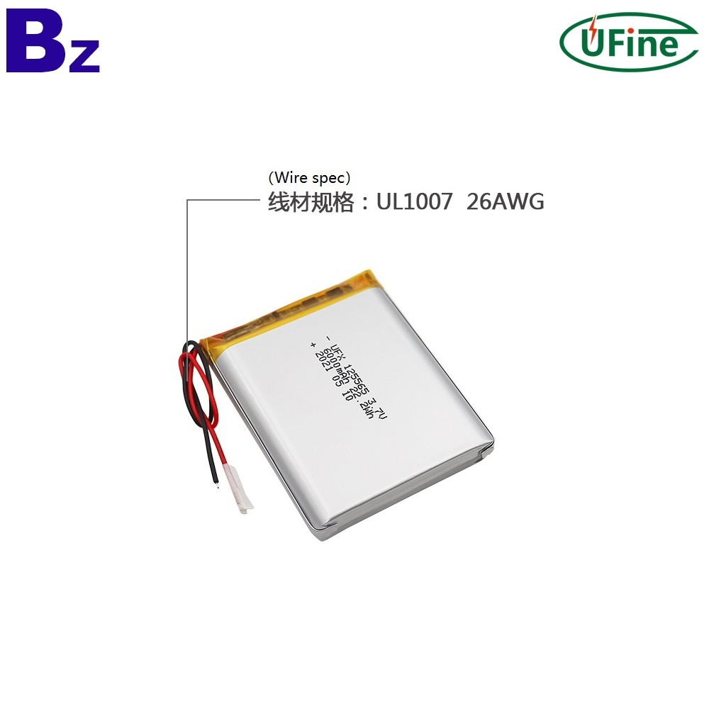 125565 6000mAh 3.7V Li-Polymer Battery
