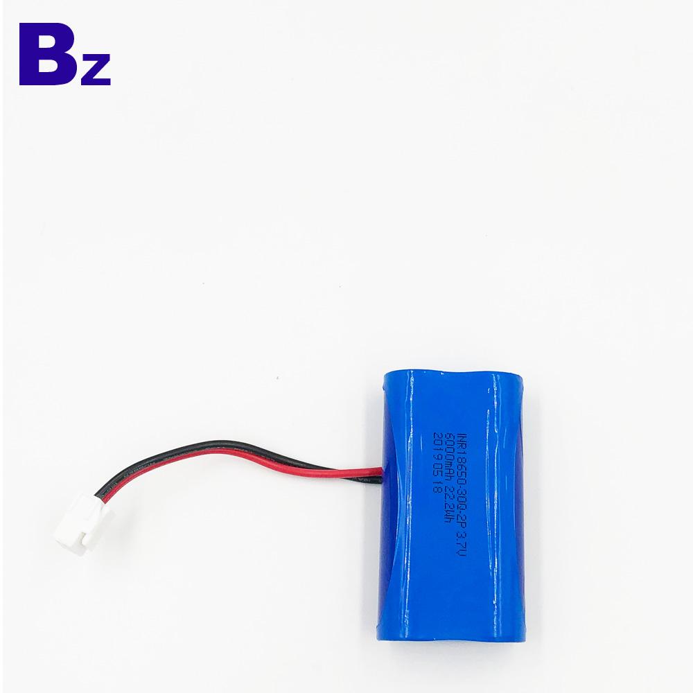 18650-30Q-2P 6000mAh 3.7V Li-Polymer Battery