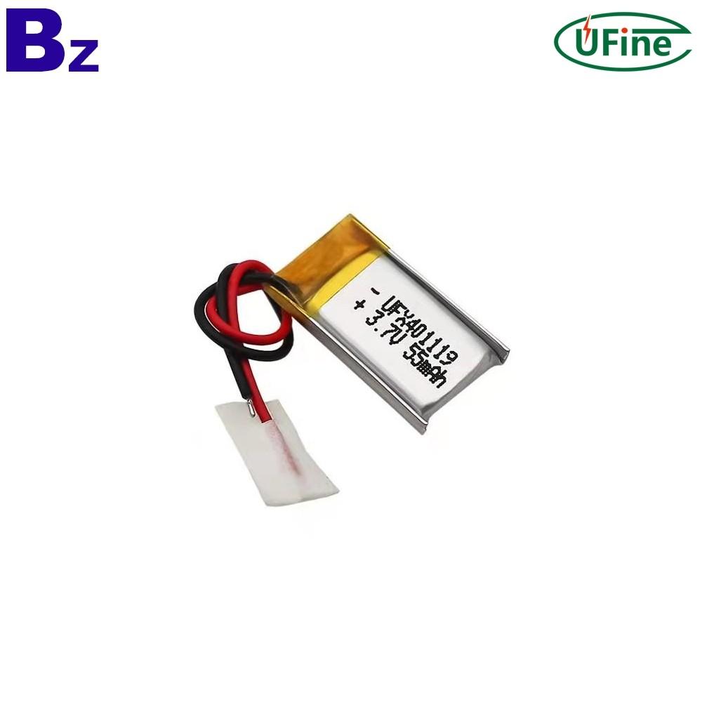 Li-Polymer Cell Factory Supply 55mAh Battery