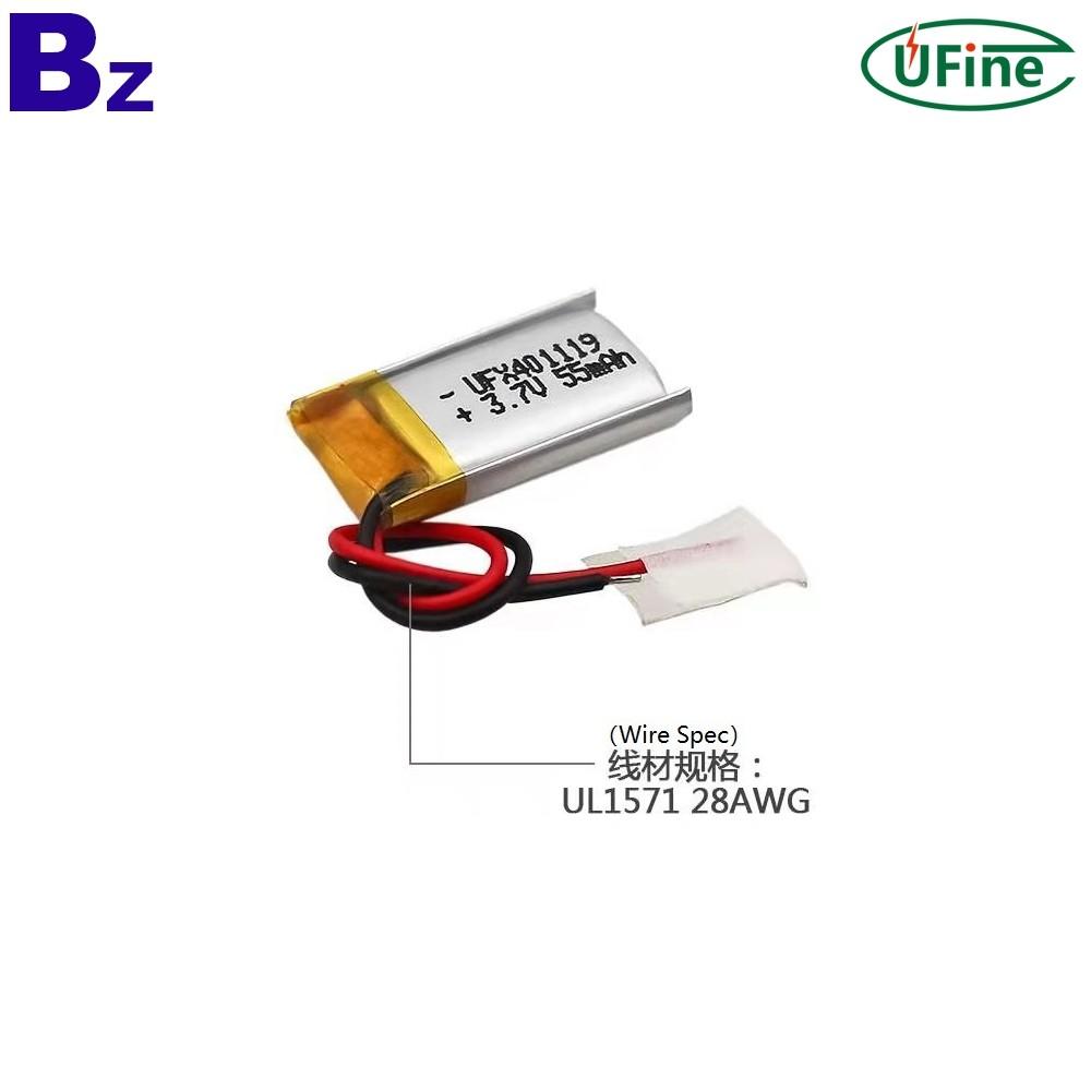 55mAh Bluetooth Head-set Batteries