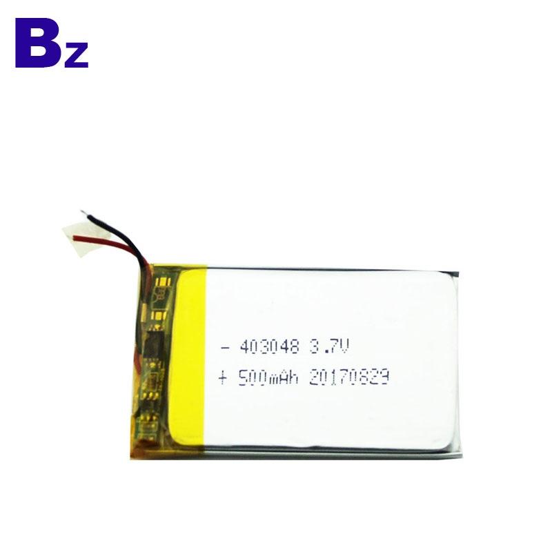 403048 500mAh 3.7V Li-Polymer Battery