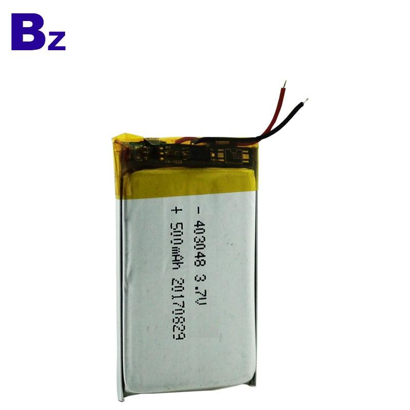 500mAh 3.7V Battery for Car DVR Devices