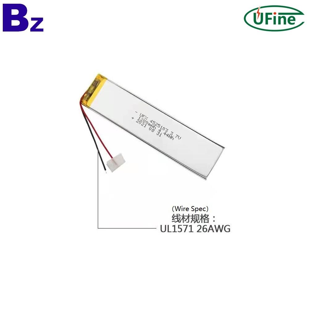 4525103 3.7V 1200mAh Lithium-ion Polymer Battery