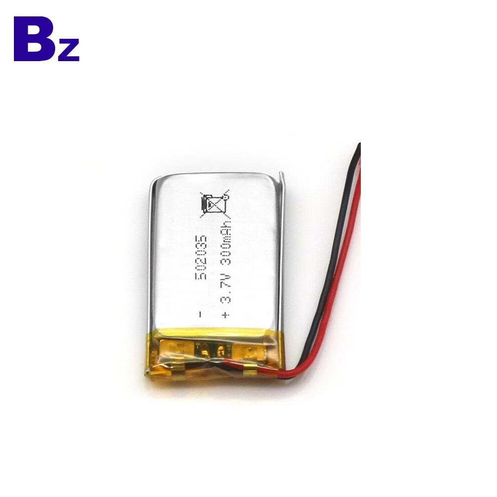 300mAh 3.7V Li-ion Battery