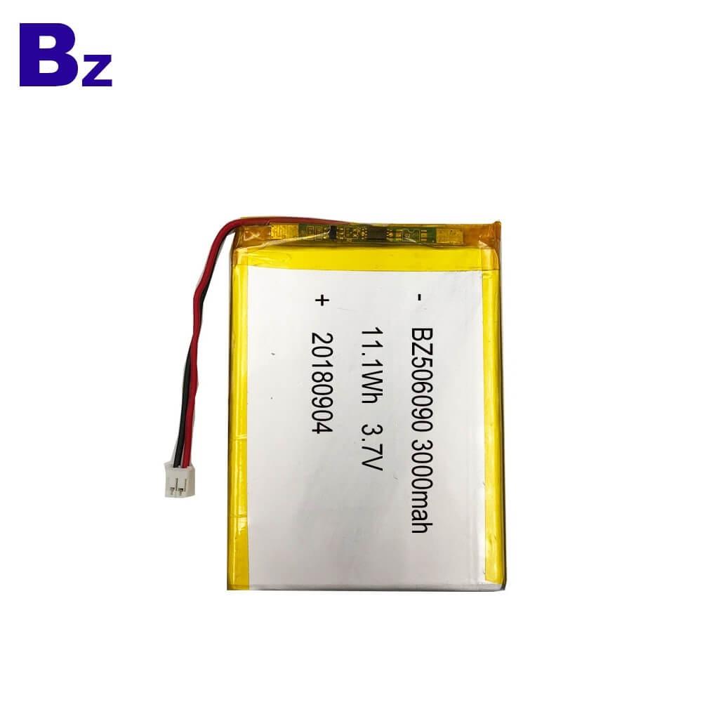BZ 506090 3000mAh 3.7V Lithium Ion Battery