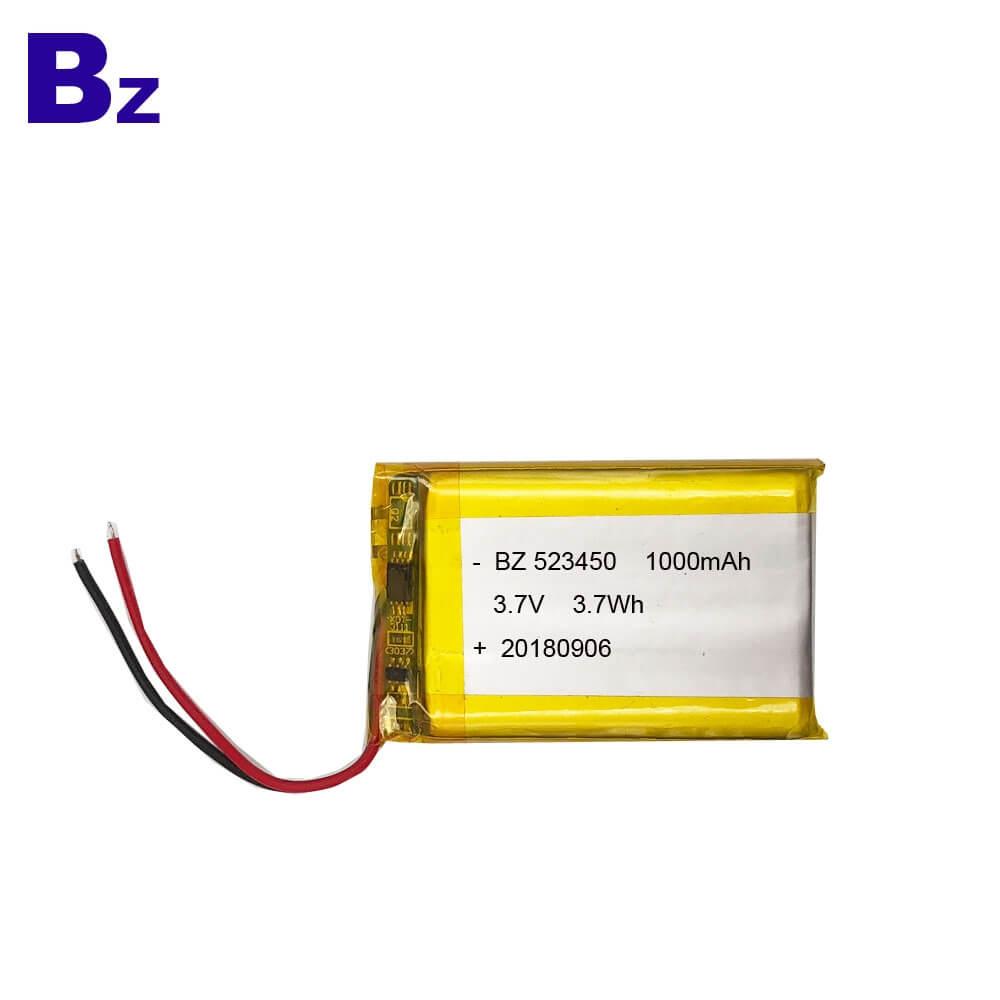 BZ 523450 1000mAh 3.7V Lipo Battery