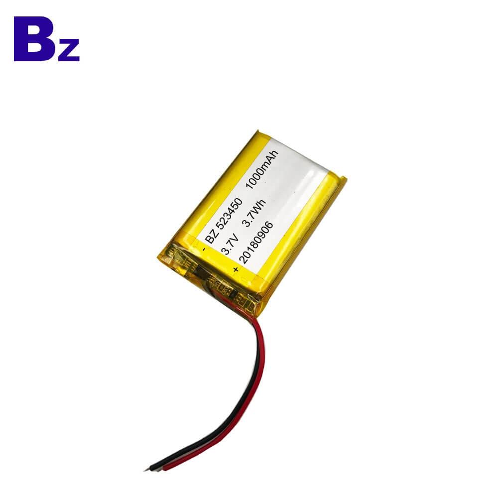 1000mAh 3.7V Lipo Battery
