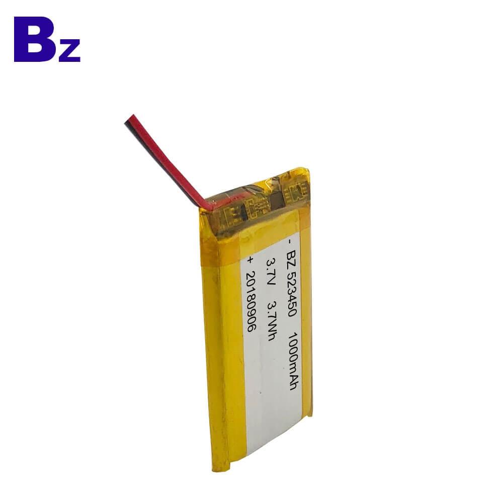 523450 1000mAh 3.7V Lipo Battery