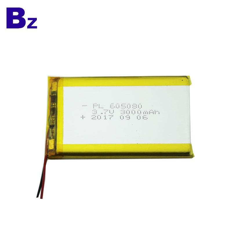 605080 3000mAh 3.7V LiPo Battery with UL Certificate