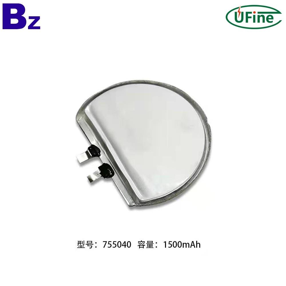755040 1500mAh 3.7V Rechargeable Li-polymer Battery