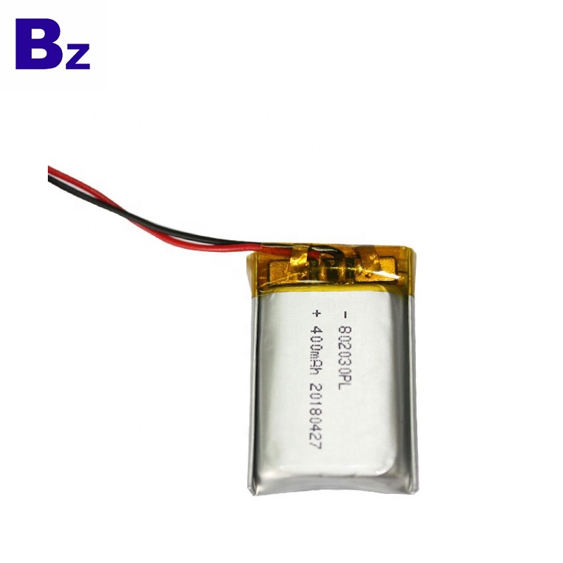 802030 400mAh 3.7V Li-Polymer Battery