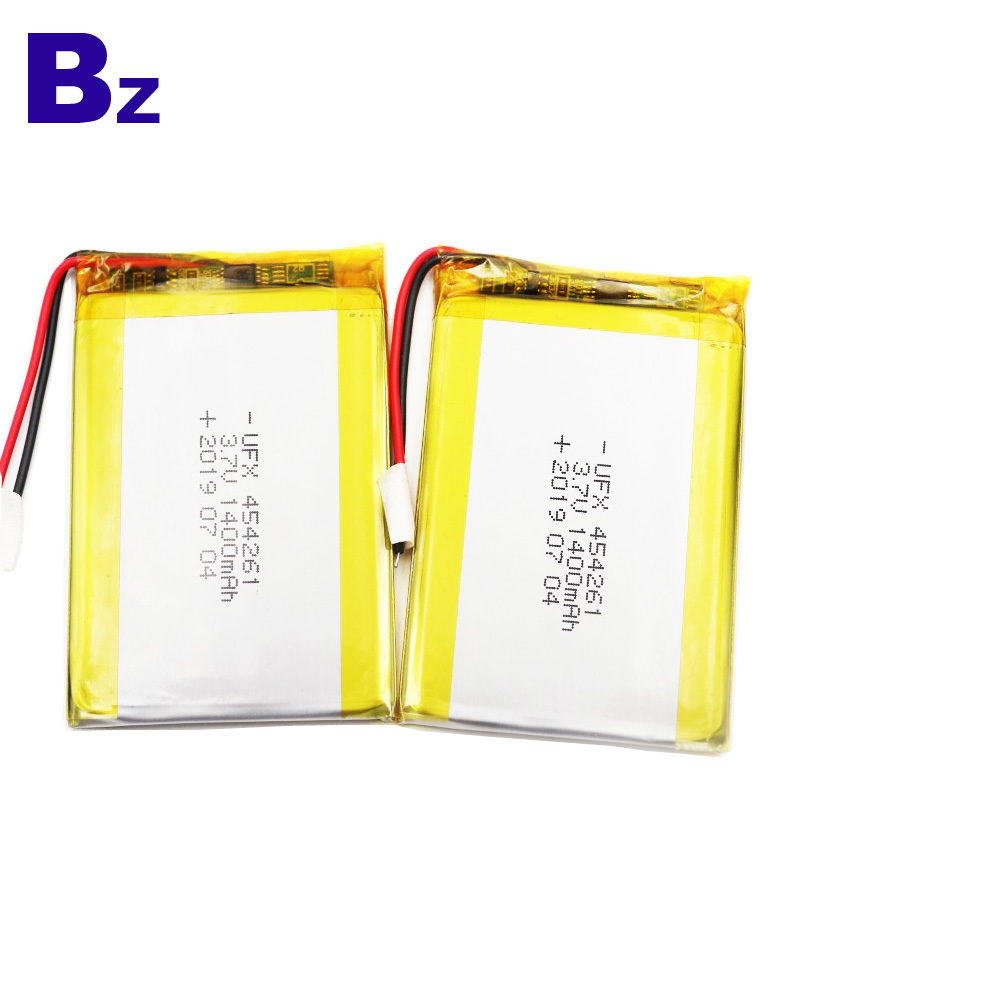 1400mAh  Li Polymer Battery With Wire