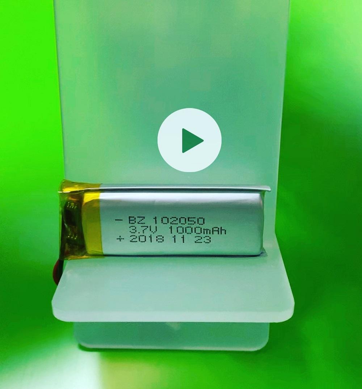102050 1000mAh 3.7V Li-Polymer Battery with KC UL IEC62133 CB Certificate