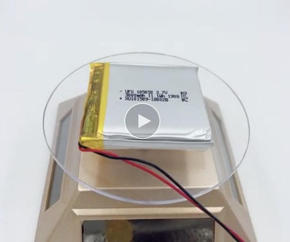 105050 3000mAh 3.7V KC Certification Polymer Li-ion Battery